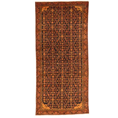 One-of-a-Kind Govan Overdyed Hamadan Vintage Hand-Knotted Area Rug