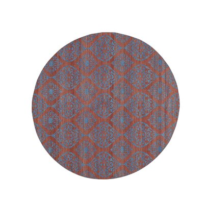 Reversible Flat Weave Durie Kilim Hand-Knotted Red Area Rug