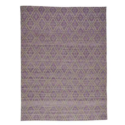 Reversible Flat Weave Oriental Durie Kilim Hand-Knotted Purple Area Rug