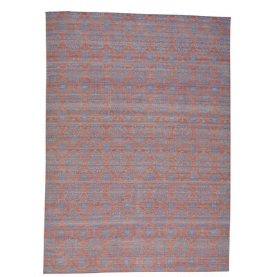 Reversible Flat Weave Durie Kilim Oriental Hand-Knotted Teal Area Rug