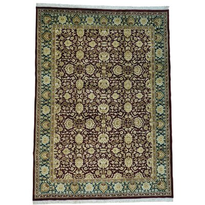 Agra and Plush Oriental Hand-Knotted Red Area Rug