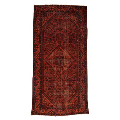 One-of-a-Kind Greenawalt Overdyed Hussainabad Vintage Hand-Knotted Area Rug