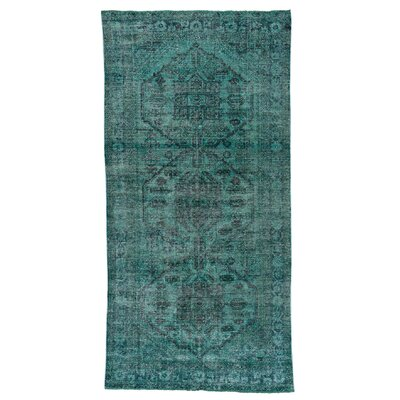 One-of-a-Kind Greenawalt Overdyed Hamadan Vintage Hand-Knotted Area Rug