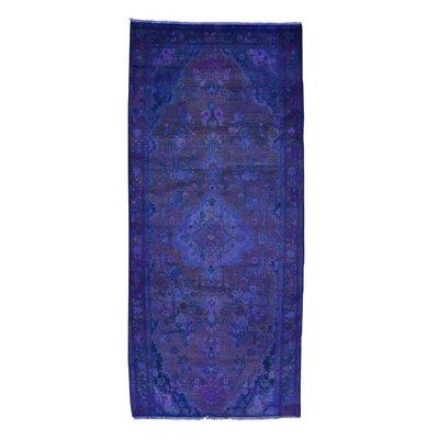 One-of-a-Kind Greenawalt Overdyed Hamadan Vintage Oriental Hand-Knotted Area Rug