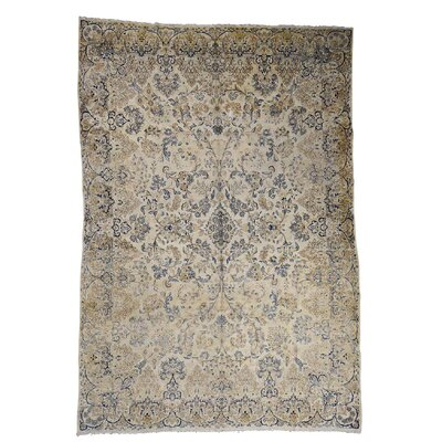 One-of-a-Kind Kenilworth Vintage Worn Oriental Hand-Knotted Area Rug