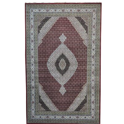 One-of-a-Kind Rudolph Mahi Oriental Hand-Knotted Silk Area Rug
