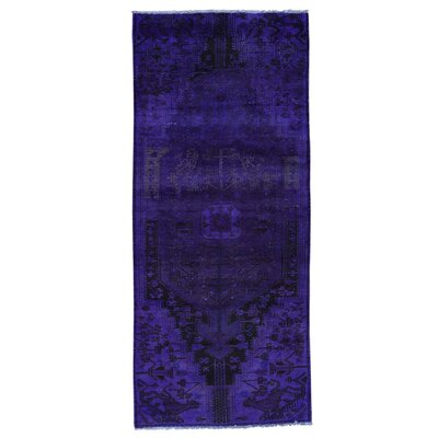 One-of-a-Kind Govan Hamadan Overdyed Vintage Hand-Knotted Area Rug