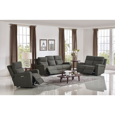 Masuda Shaw Modern Fabric 3 Piece Living Room Set