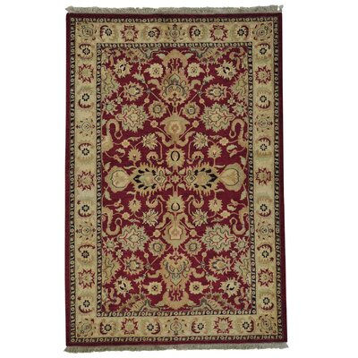 Burgundy Rajasthan and Plush Oriental Hand-Knotted Red Area Rug