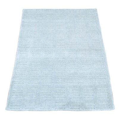 Tone on Tone Hand-Knotted Silk Ivory Area Rug