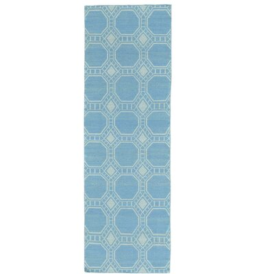 Reversible Kilim Hand-Knotted Wool Blue Area Rug