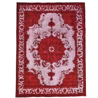 One-of-a-Kind Kendrick Overdyed Barjasta Vintage Hand-Knotted Area Rug