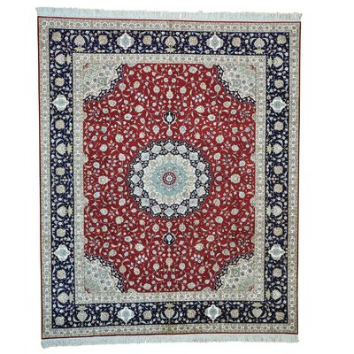 One-of-a-Kind Ruelas 400 KPSI Oriental Hand-Knotted Silk Area Rug