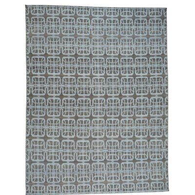 Reversible Kilim Flat Weave Oriental Hand-Knotted Blue Area Rug