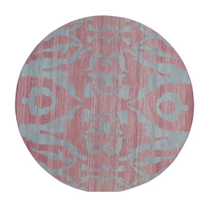 Reversible Kilim Flat Weave Hand-Knotted Gray Area Rug