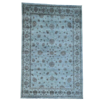 One-of-a-Kind Lavendon Hand-Knotted Blue Area Rug
