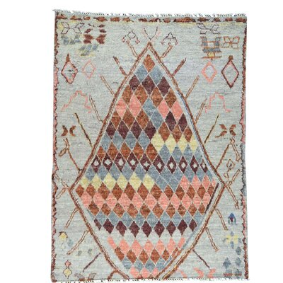 One-of-a-Kind Greco Berber and Plush Shaggy Hand-Knotted Area Rug