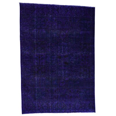 Bakhtiari Overdyed Garden Hand-Knotted Purple Area Rug