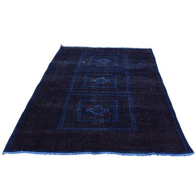One-of-a-Kind Grasmere Overdyed Baluch Vintage Hand-Knotted Area Rug