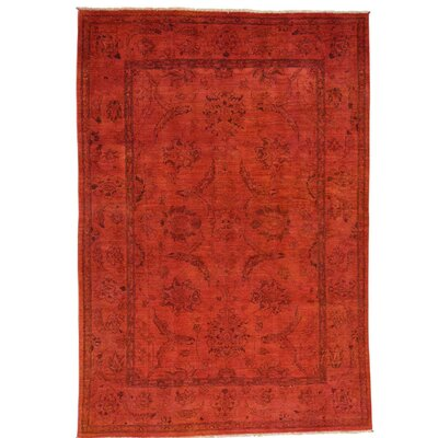 One-of-a-Kind Lavendon Overdyed Oriental Hand-Knotted Area Rug