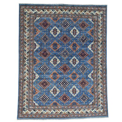 One-of-a-Kind Graybill Ersari Geometric Hand-Knotted Area Rug