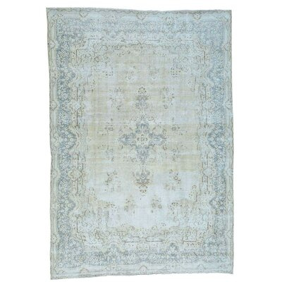 Kerman Hand-Knotted Ivory Area Rug