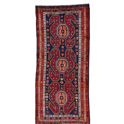 One-of-a-Kind Grasmere Afshar Oriental Hand-Knotted Area Rug