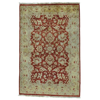 Mahal Ziegler Oriental Hand-Knotted Brown Area Rug