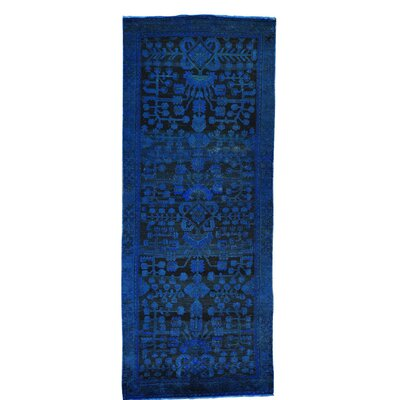One-of-a-Kind Grasmere Overdyed Lilihan Vintage Hand-Knotted Silk Area Rug
