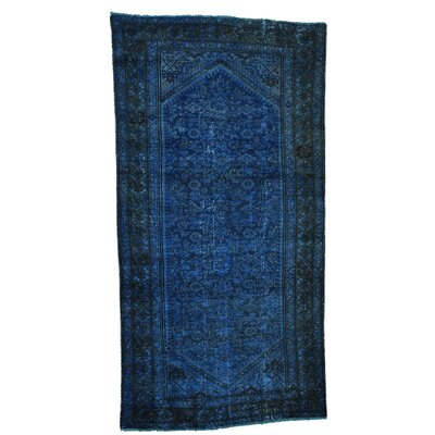 One-of-a-Kind Grasmere Malayer Overdyed Worn Down Hand-Knotted Area Rug