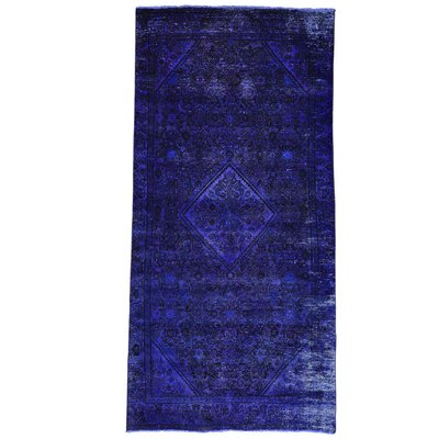 One-of-a-Kind Grasmere Overdyed Hamadan Vintage Hand-Knotted Area Rug