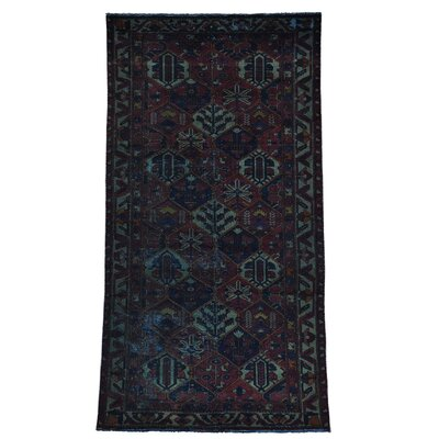 One-of-a-Kind Grasmere Overdyed Worn Down Hand-Knotted Area Rug
