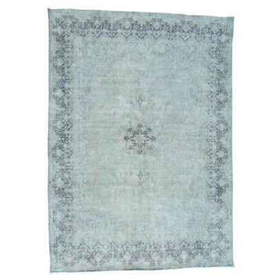 Kerman Hand-Knotted Green Area Rug