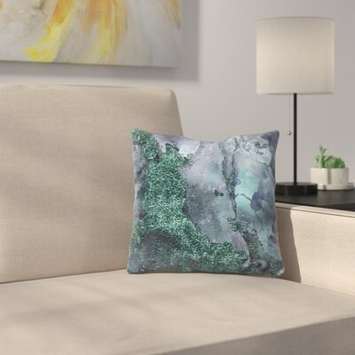 Abstract Malachite Gemstone and Marble Throw Pillow Size: 14 x 14