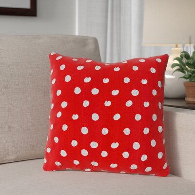 Polka Dots Throw Pillow Size: 18