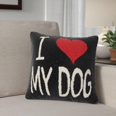 Altimari I Love My Dog Wool Throw Pillow