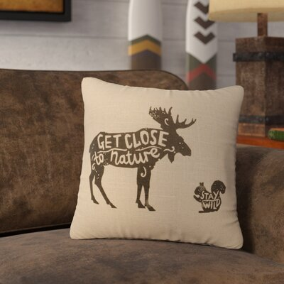 Neale Close to Nature Throw Pillow Color: Natural
