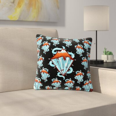 BarmalisiRTB Diamond Mountain Outdoor Throw Pillow Size: 18 H x 18 W x 5 D