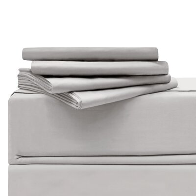 Luxury 6 Piece 620 Thread Count 100% Cotton Sheet Set Size: California King, Color: Platinum