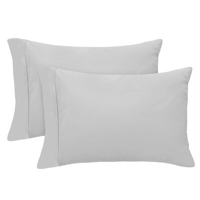 Luxury Set of 2 Pillow Case Size: Standard, Color: Platinum