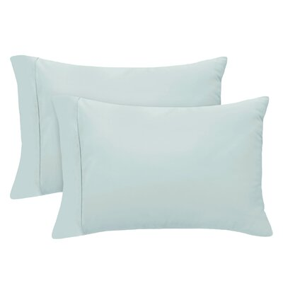 Luxury Set of 2 Pillow Case Size: King, Color: Spa Blue