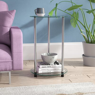 Georgette End Table Color: Clear