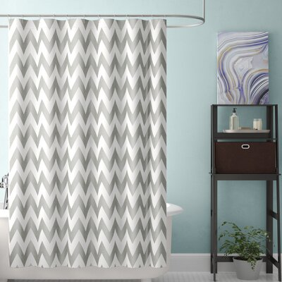 Alexys Shower Curtain Color: Gray