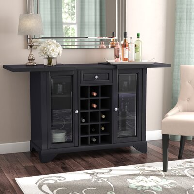 Abbate Sliding Top Bar Cabinet Color: Black
