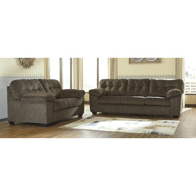 Mccreery 2 Piece Living Room Set Upholstery: Brown