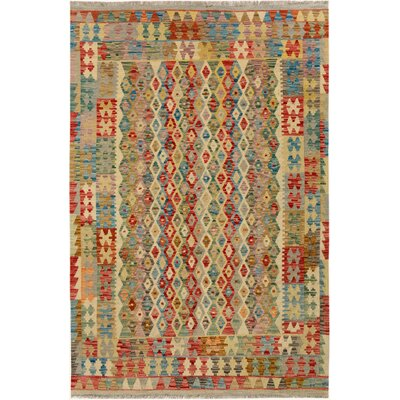 One-of-a-Kind Bakerstown Kilim Hand-Woven Gray/Blue Area Rug