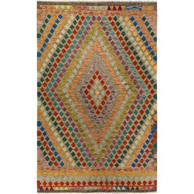One-of-a-Kind Bakerstown Kilim Hand-Woven Gray/Rust Area Rug