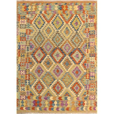 One-of-a-Kind Bakerstown Kilim Hand-Woven Brown/Blue Area Rug