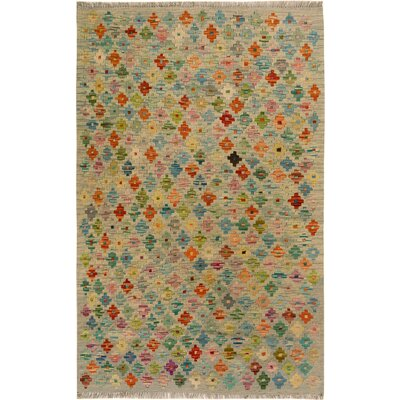 One-of-a-Kind Bakerstown Kilim Hand-Woven Beige/Gray Area Rug
