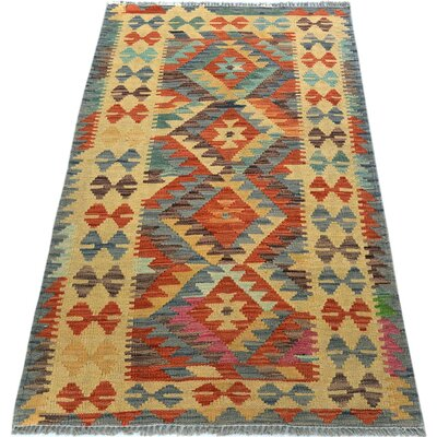 One-of-a-Kind Bakerstown Kilim Hand-Woven Gray/Brown Area Rug